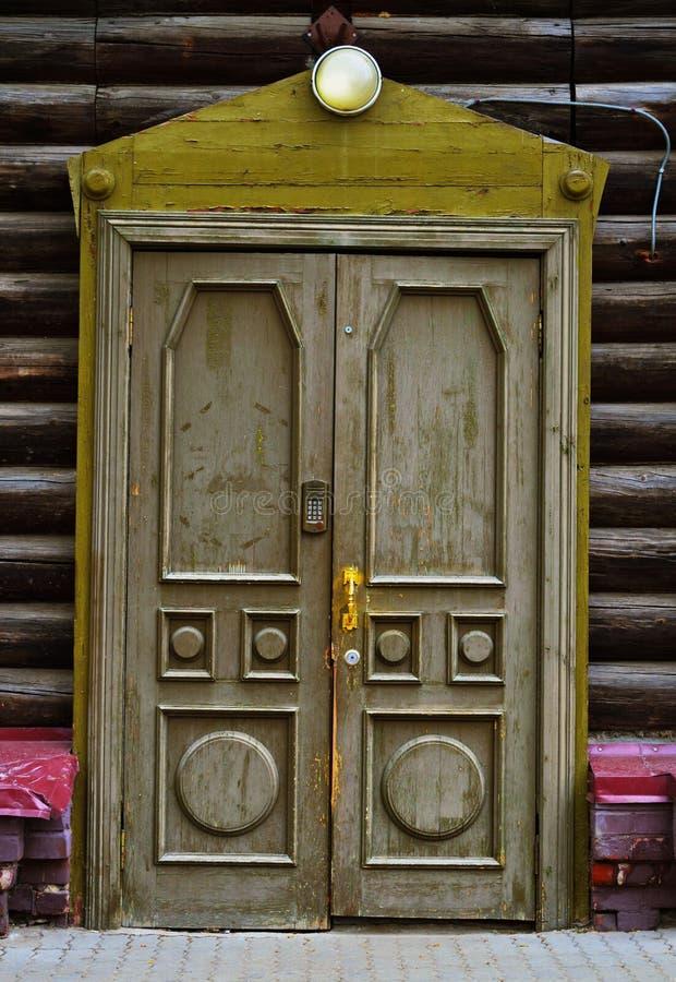 西伯利亚的木architechture 图库摄影