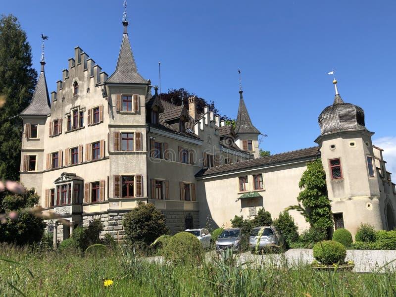 西伯格城堡或施洛斯西伯格在克罗伊茨林根,瑞士 图库摄影