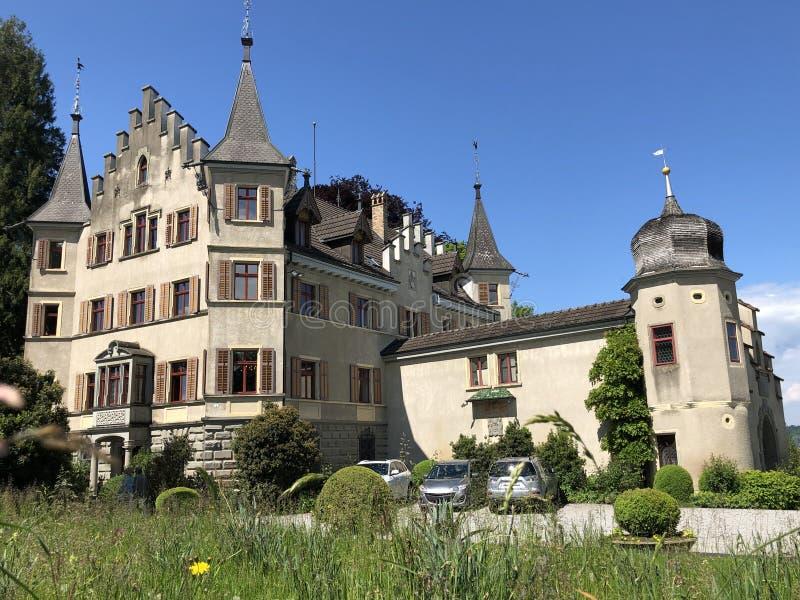 西伯格城堡或施洛斯西伯格在克罗伊茨林根,瑞士 库存图片