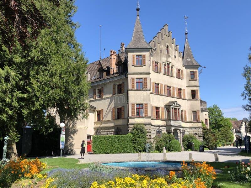 西伯格城堡或施洛斯西伯格在克罗伊茨林根,瑞士 免版税库存照片
