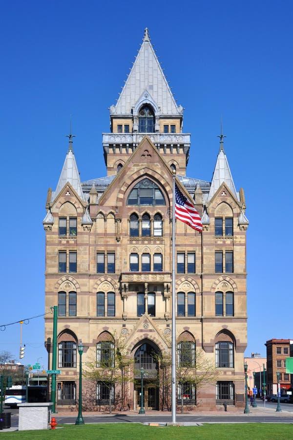 西勒鸠斯储蓄银行,纽约,美国 免版税库存照片