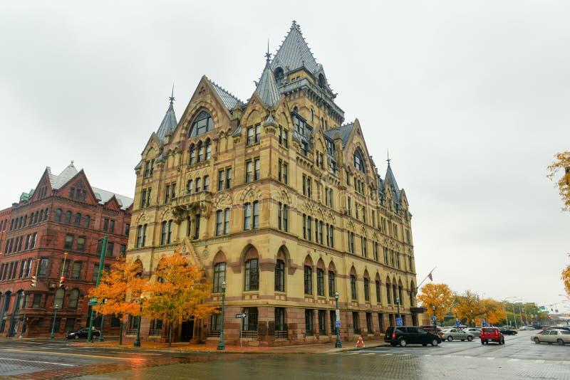 西勒鸠斯储蓄银行,纽约 免版税库存照片