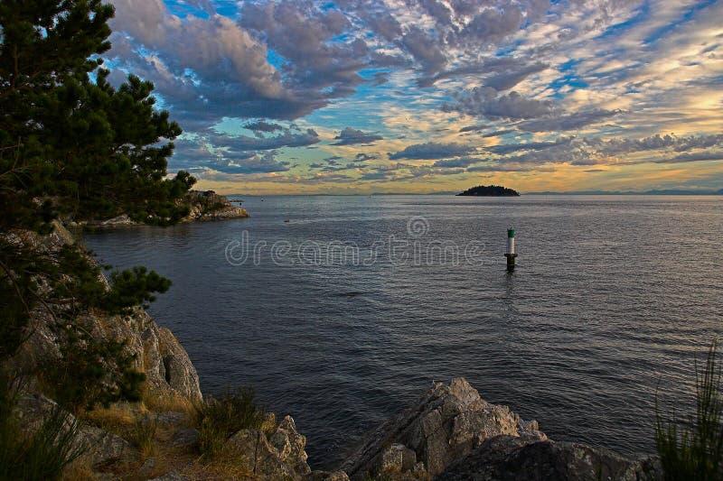 西北和平的日落 库存图片