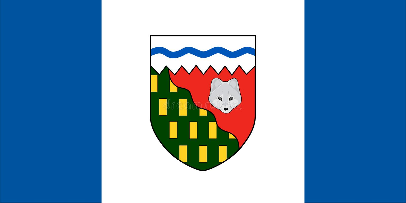 西北地区导航旗子 加拿大 免版税库存照片