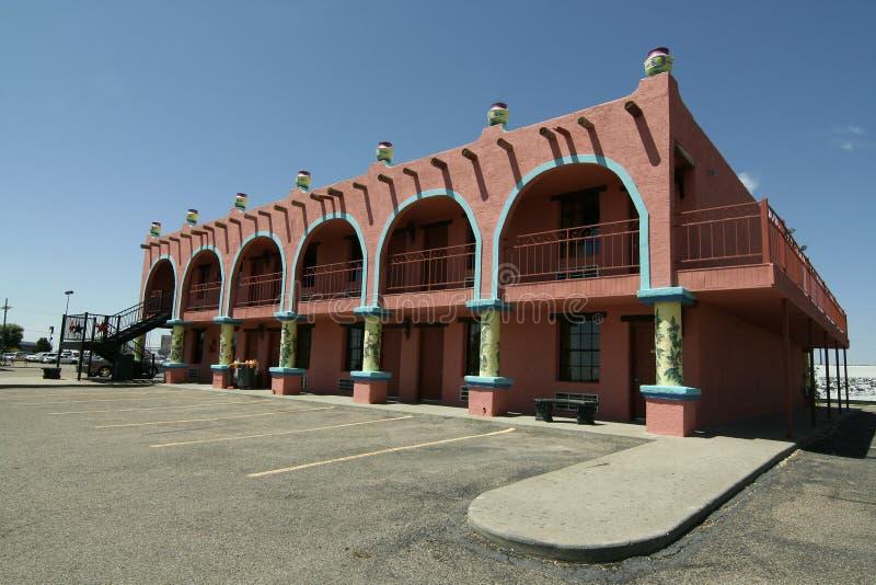 西南的旅馆 库存照片