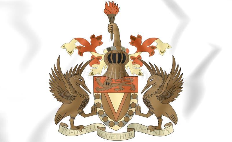 西印度群岛联邦徽章1958-1962 皇族释放例证