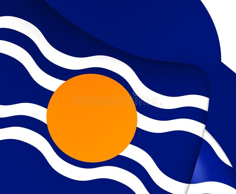 西印度群岛联邦旗子1958-1962 库存例证