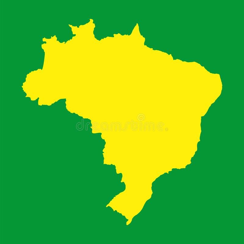巴西地图。您的介绍的背景 向量例证