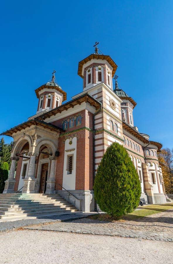 西奈修道院的主要大教堂在罗马尼亚 免版税图库摄影