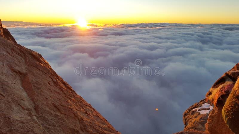 西奈山,黎明 库存图片