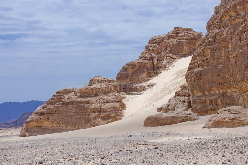 西奈沙漠 埃及风景 免版税库存图片