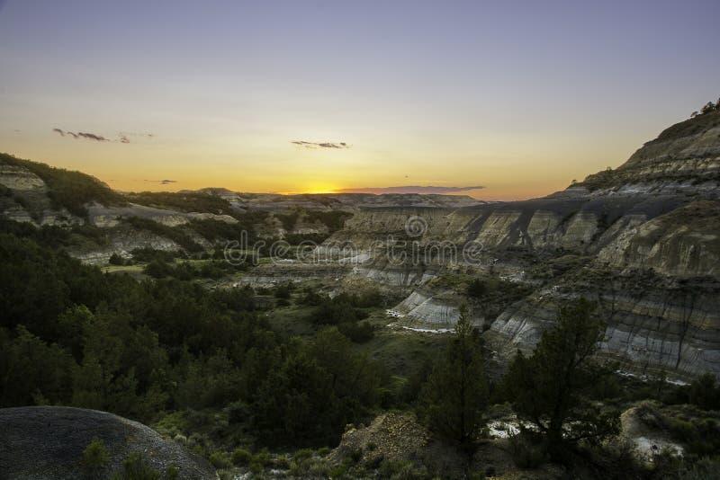 西奥多・罗斯福国家公园风景 免版税库存图片