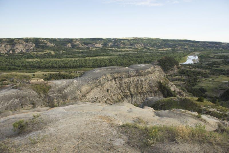 西奥多・罗斯福国家公园- Oxbow弯 免版税库存照片