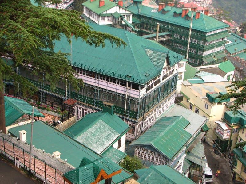 西姆拉市在印度 免版税图库摄影