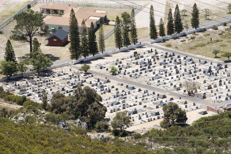 西开普省的南部非洲一座公墓概要 图库摄影