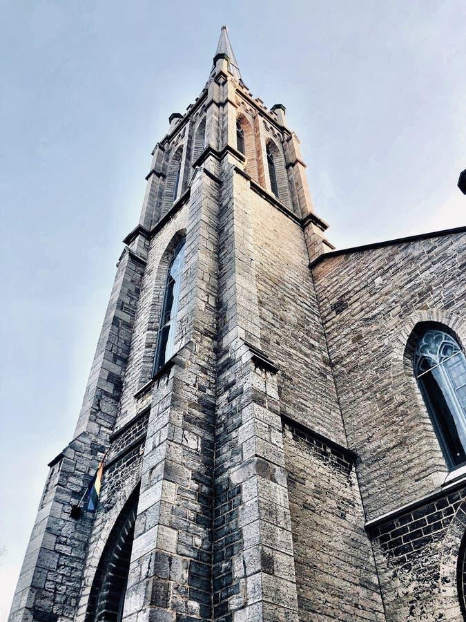 西德纳姆教会在金斯敦安大略 免版税库存图片
