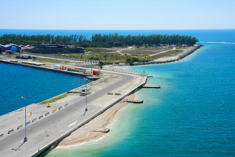 西方关键的码头 免版税库存照片