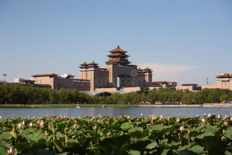 西方北京的火车站 库存照片