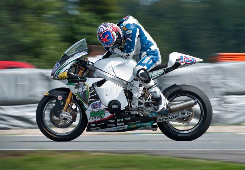 西方安东尼・布尔诺主要moto2的种族 图库摄影