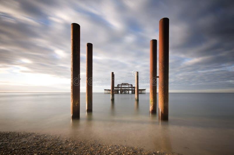 西方布赖顿的码头 免版税图库摄影