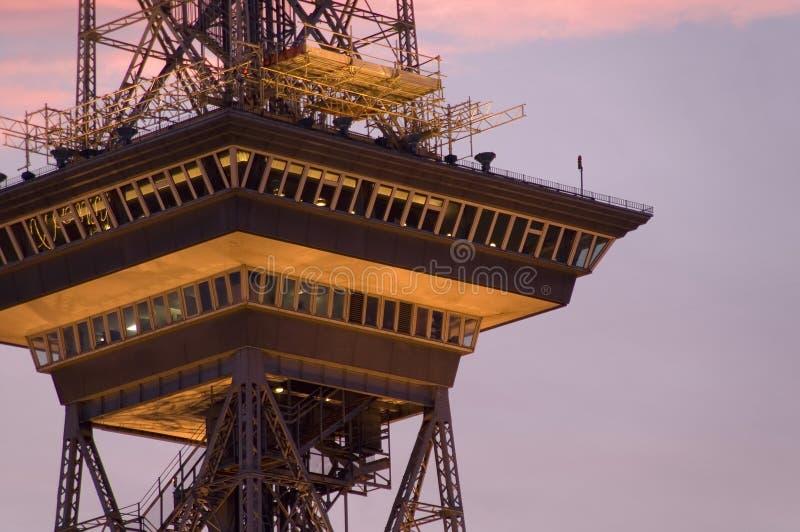 西方柏林的无线电铁塔 库存照片