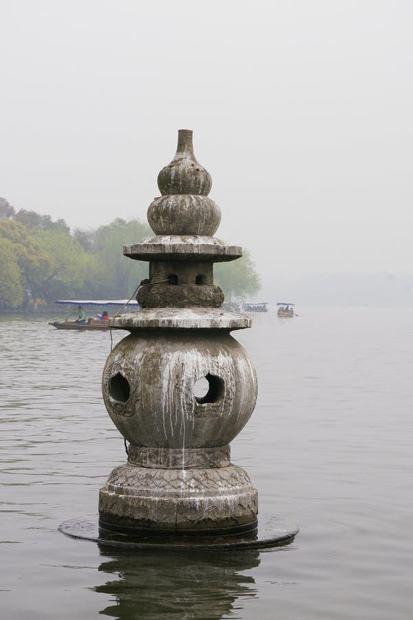 西方湖文化横向在杭州,中国 库存照片