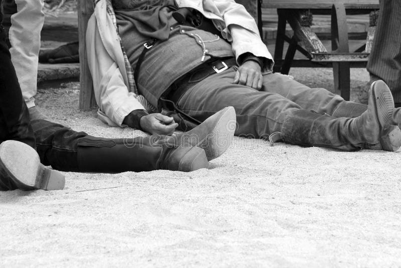 西方牛仔正义老的城镇美国 免版税库存照片