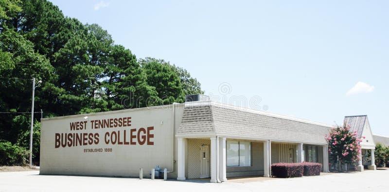 西方田纳西商学院的校园,杰克逊TN 库存图片