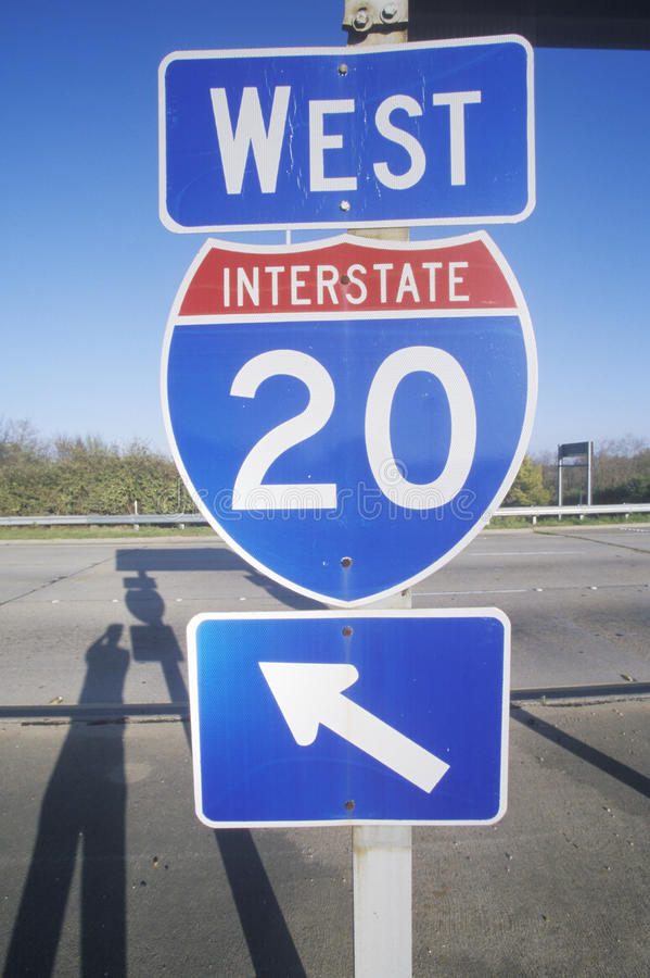 西方的州际公路20 图库摄影