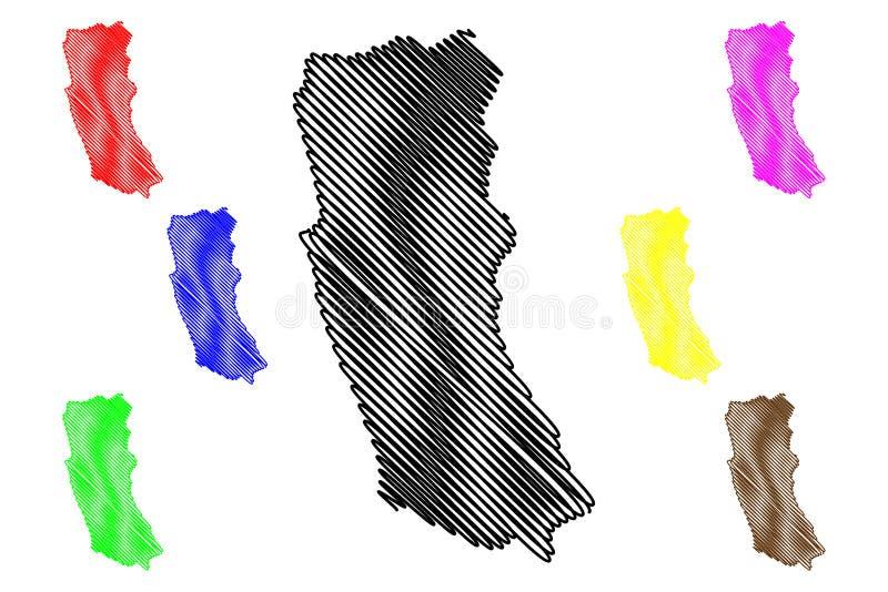 西方省,斯里兰卡管理部门,民主党社会主义斯里兰卡共和国,锡兰地图传染媒介例证 皇族释放例证