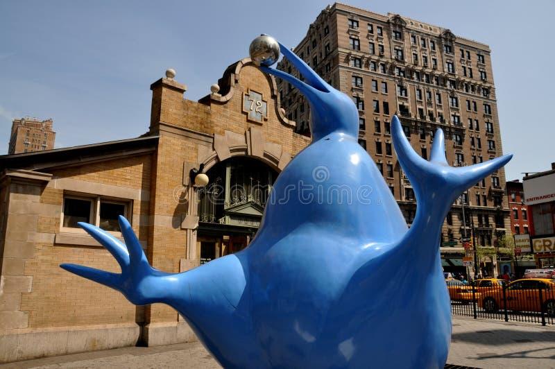 西方第72条猕猴桃nyc雕刻家的街道 免版税库存图片