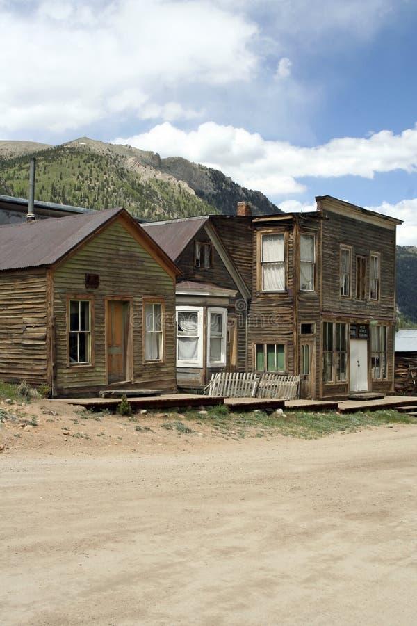西方鬼魂老的城镇 库存图片