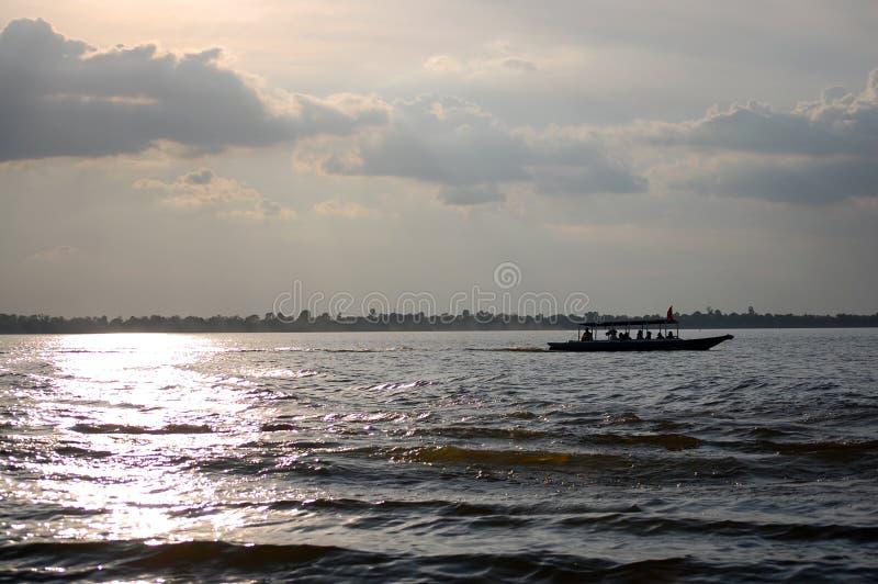西方Baray (高棉:Baray Teuk Thla) 库存照片