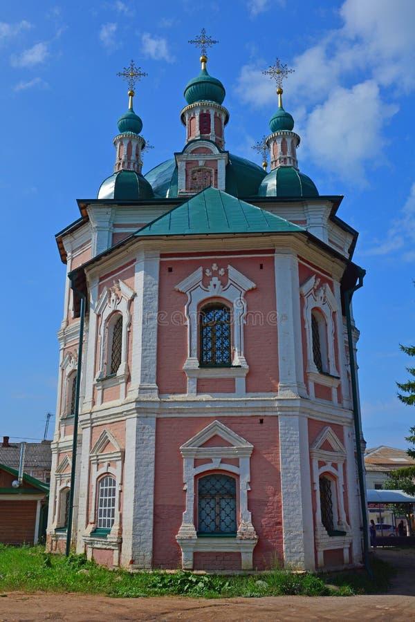 西梅昂Stylites& x27后面门面; s教会在Pereslavl-Zalessky,俄罗斯 库存照片