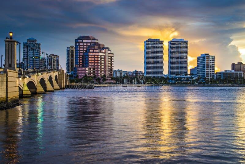 西棕榈海滩佛罗里达 免版税图库摄影