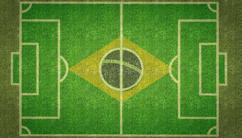 巴西橄榄球足球沥青 向量例证