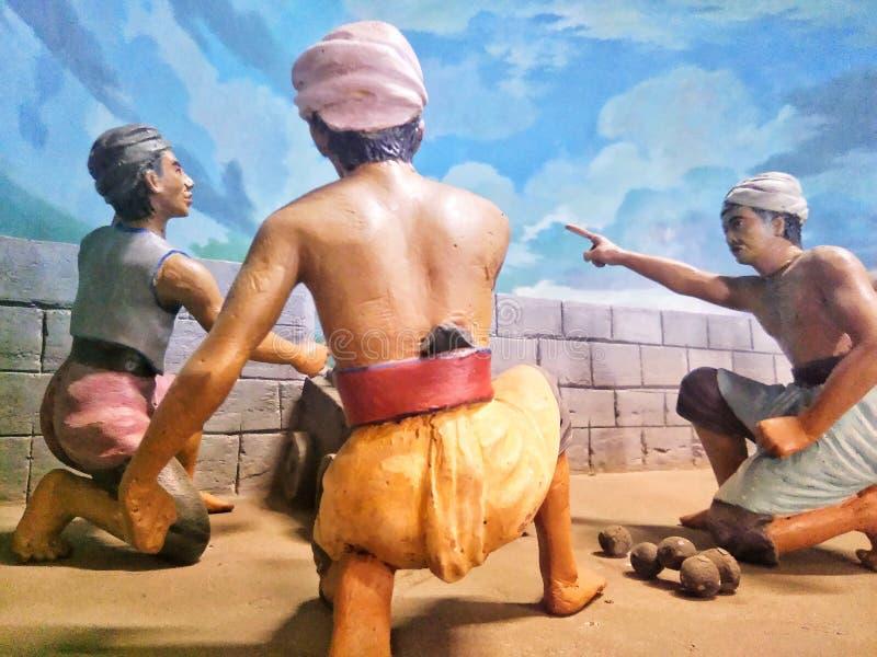 西洋镜,印度尼西亚的博物馆战士 免版税库存图片