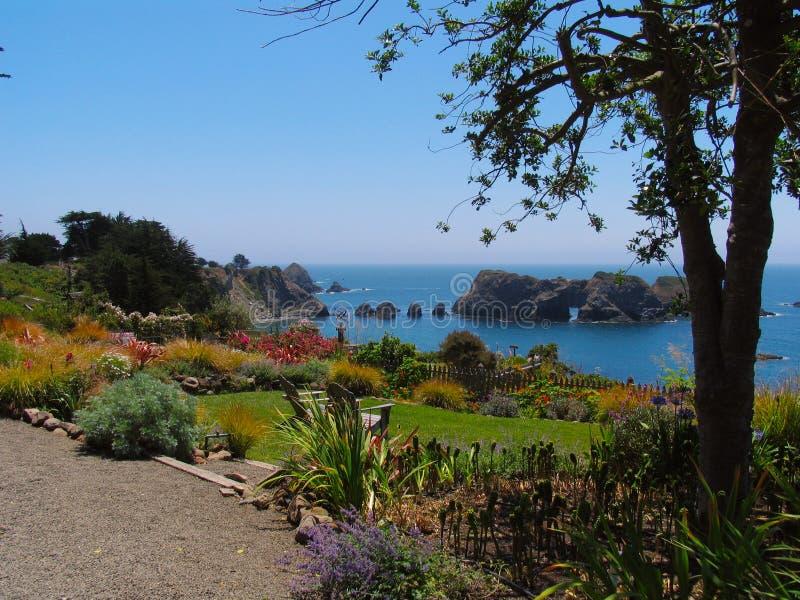 西海岸庭院景色 库存照片