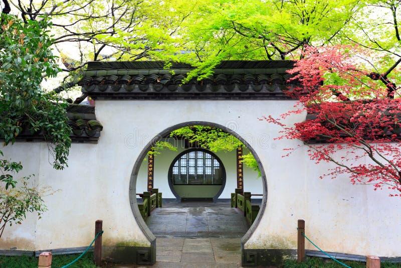 西湖十个场面之一在杭州,浙江 库存照片