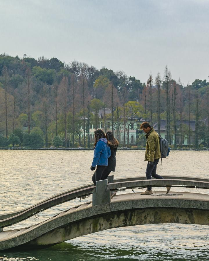 西湖,杭州,中国 库存照片