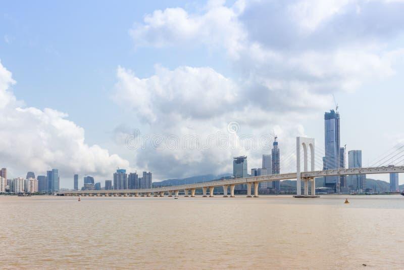 西湾大桥,澳门 免版税图库摄影