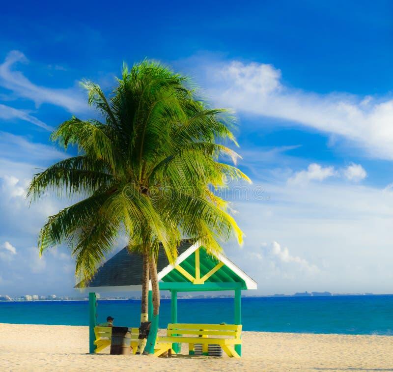 西湾海滩小屋 免版税库存图片