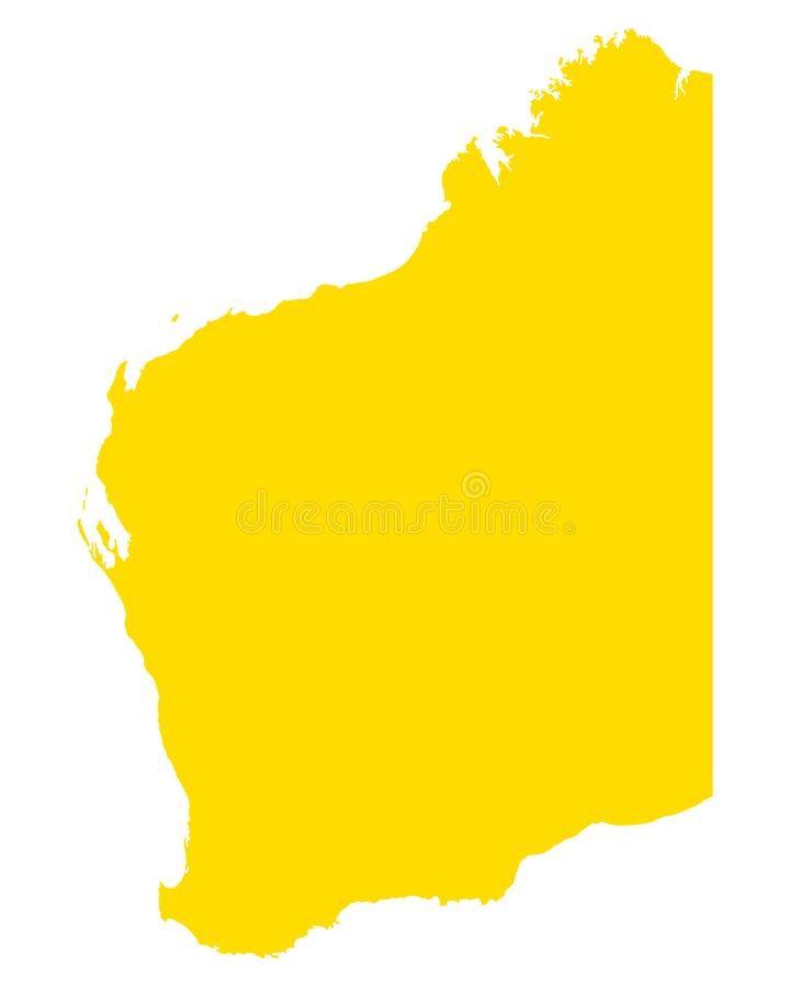 西澳州地图  皇族释放例证