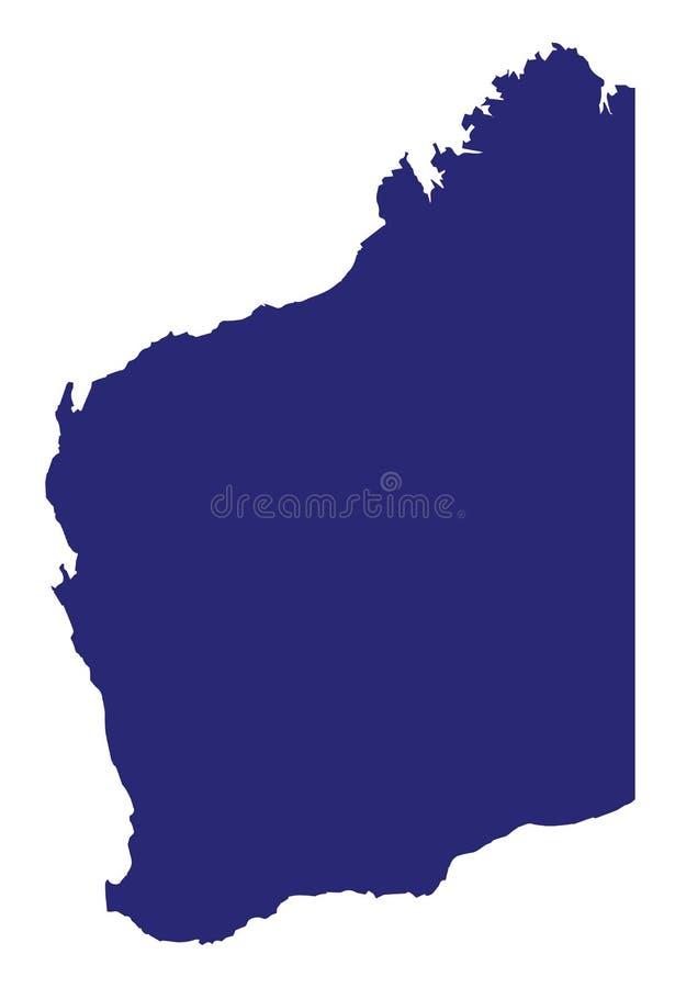 西澳州状态剪影 库存例证