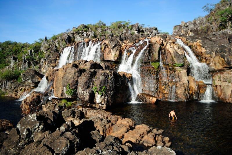 巴西瀑布 免版税库存照片