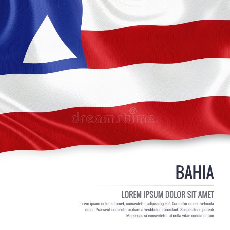 巴西状态巴伊亚旗子 向量例证