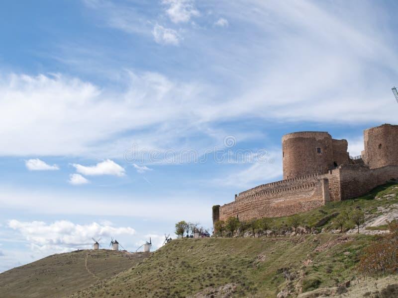 西班牙中世纪城堡 免版税库存图片
