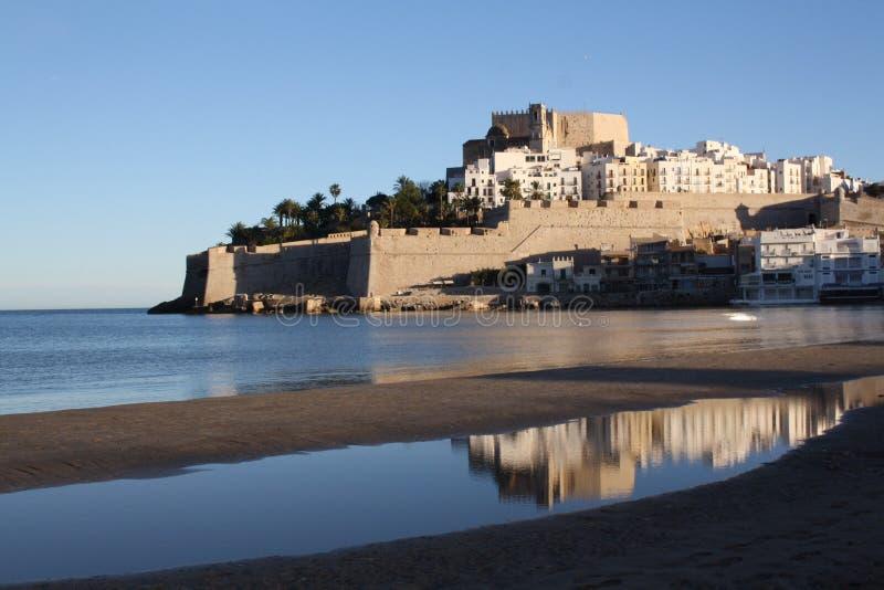 西班牙佩尼伊斯科拉城堡 库存照片
