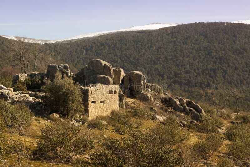 西班牙内战的痕迹 拉格兰哈争斗山的 库存照片