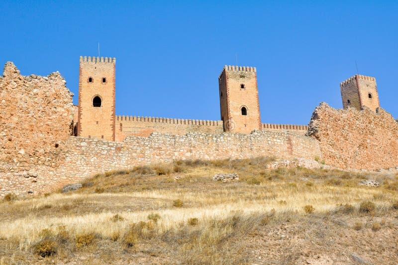 西班牙北部城堡de瓜达拉哈拉molina 库存图片